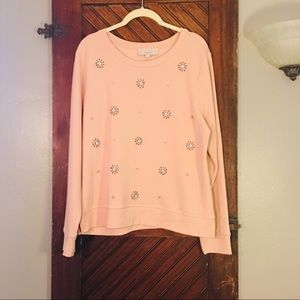 Loft Blush Baby Pink Sweatshirt